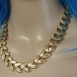 2 PC.goldtone Bracelet and Necklace set.